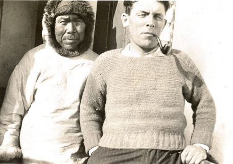 George Budgell and an Inuit man