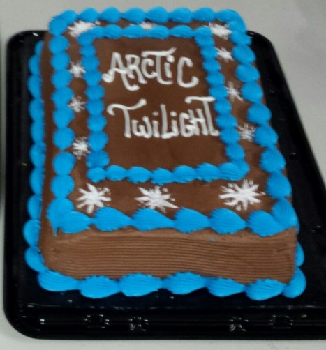 Cake to honour Len Budgell's Arctic Twilight. Thank you Pouch Cove!