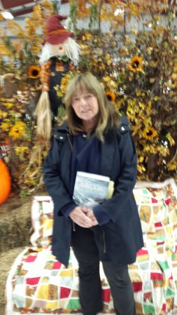 A blurred photo of me before reading at the festival